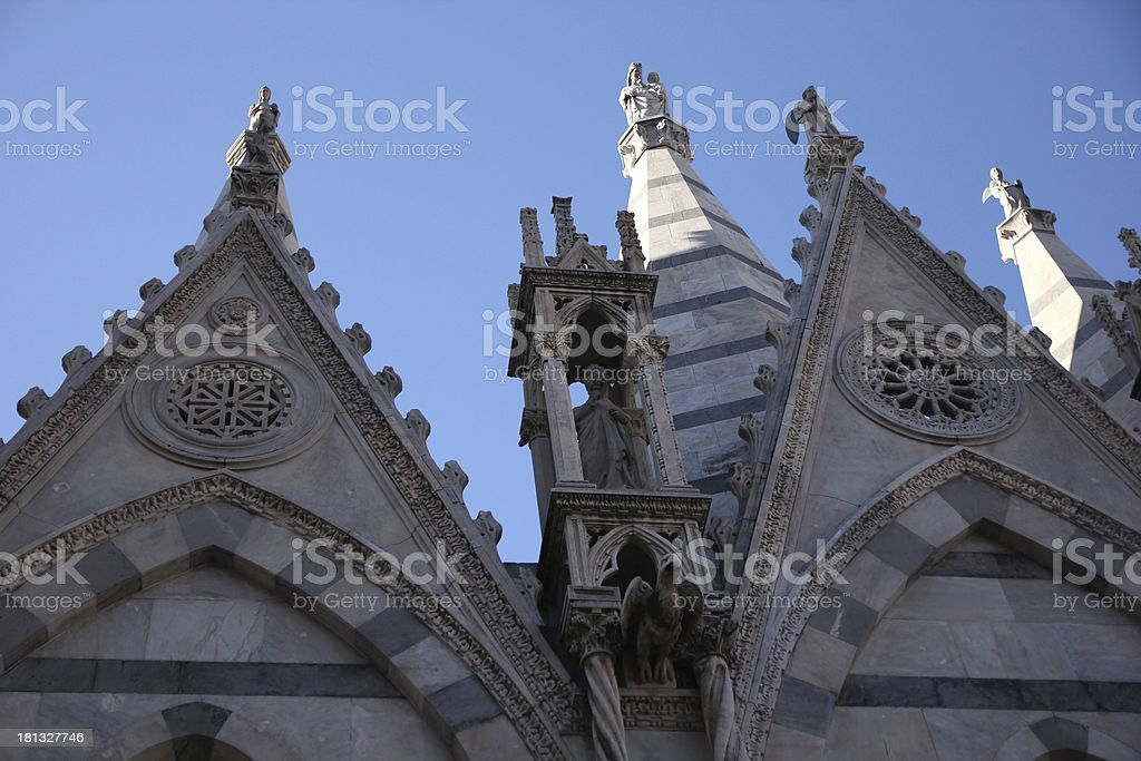 Gothic Church close up stock photo