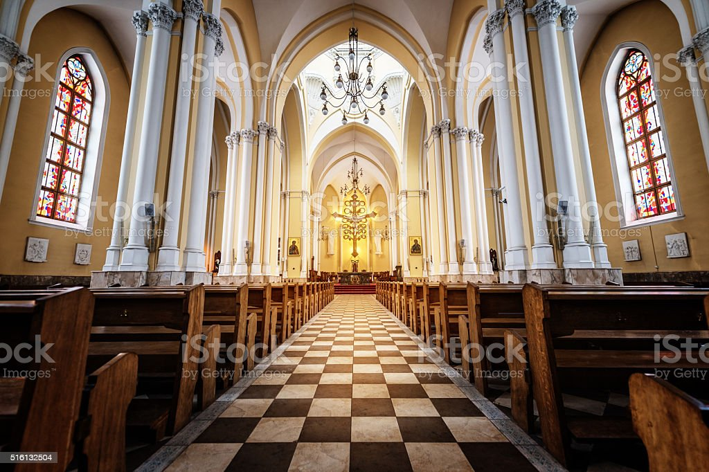 Gothic Church. stock photo