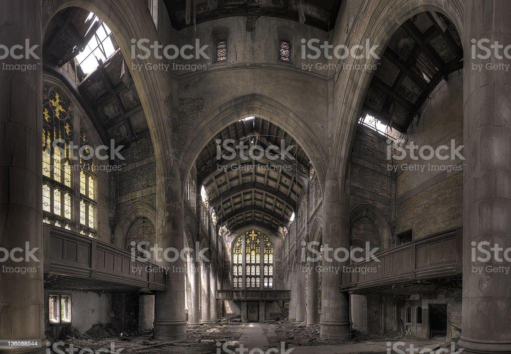 Gothic Church Ruins royalty-free stock photo