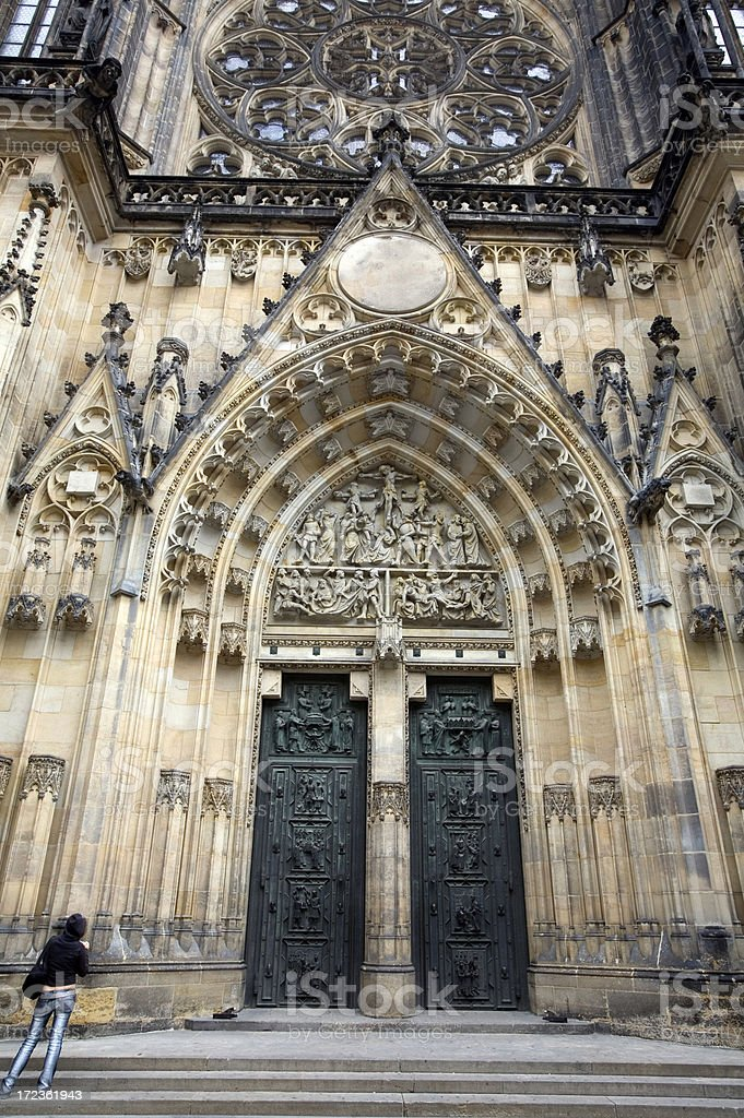Gothic Church St. Vitus's Cathedral, Prague royalty-free stock photo