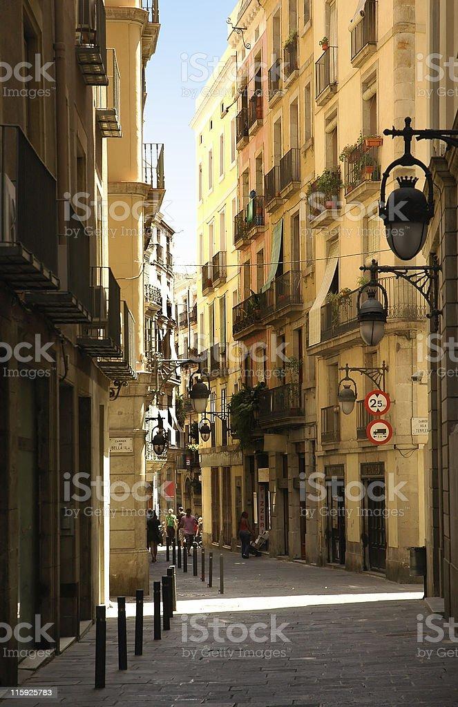 Gothic city stock photo