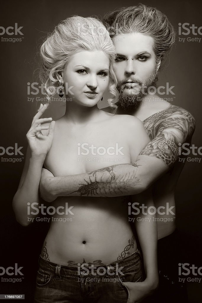 Gothic couple stock photo