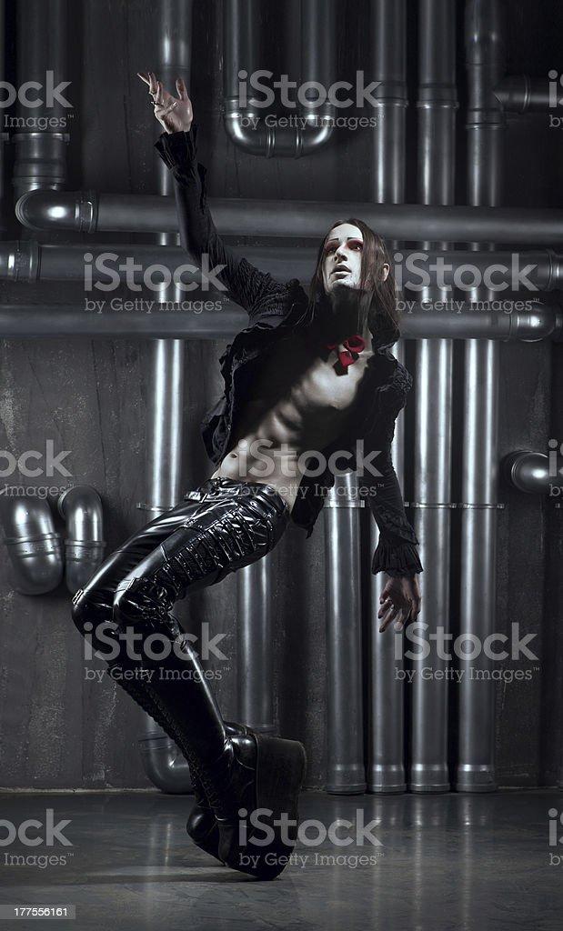 dancing man gótico foto de stock libre de derechos