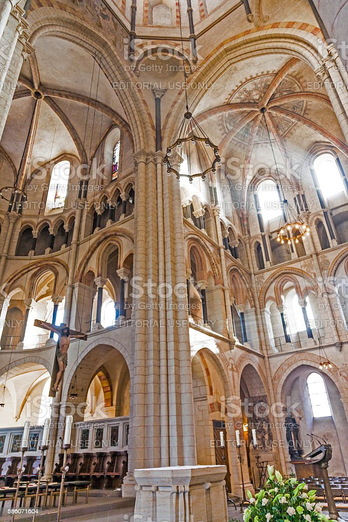 gothic dome in Limburg, Germany in beautiful colors stock photo