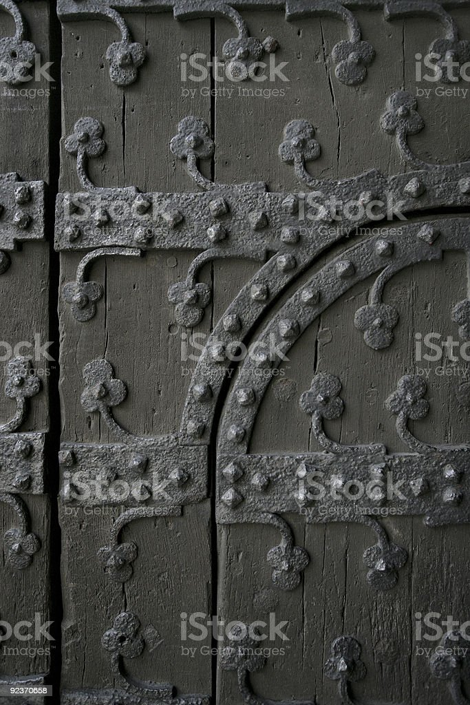 Gothic door royalty-free stock photo