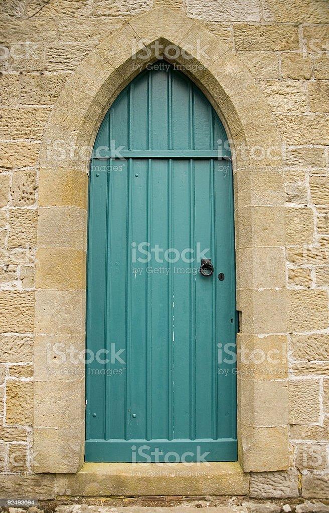 Gothic door royalty-free stock photo