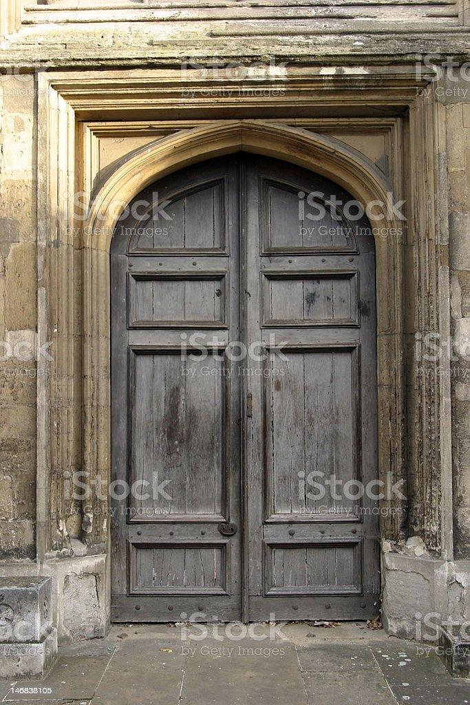 gothic doors 2 royalty-free stock photo