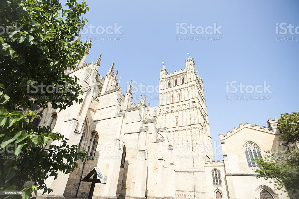 Gothic Exeter Cathedral. stock photo