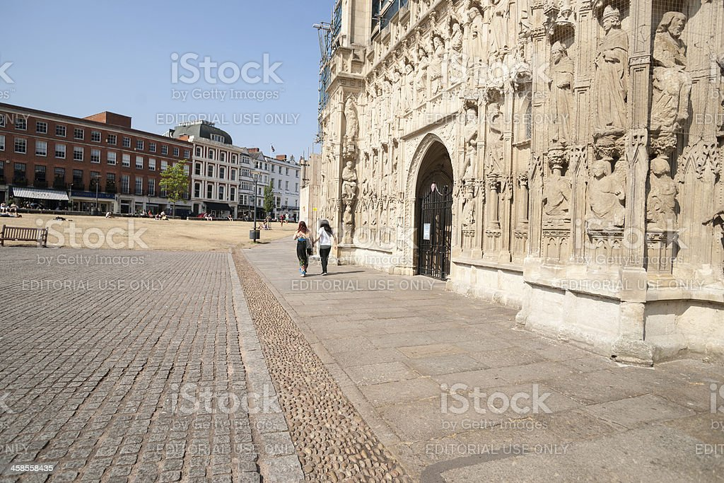 Gothic Exeter Cathedral stock photo