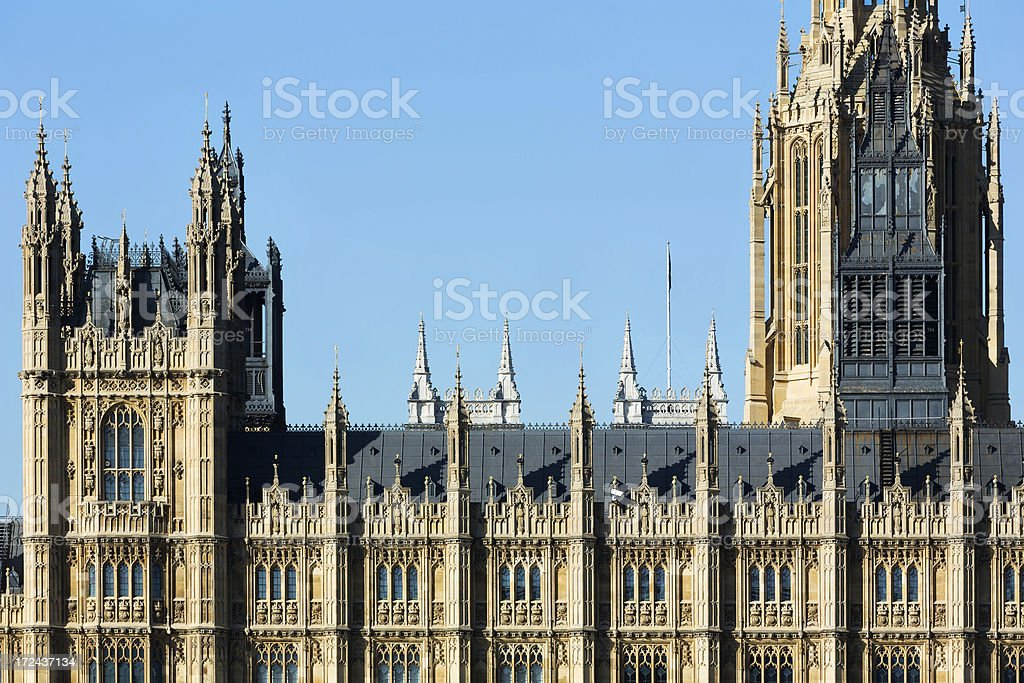 Gothic facade detail stock photo