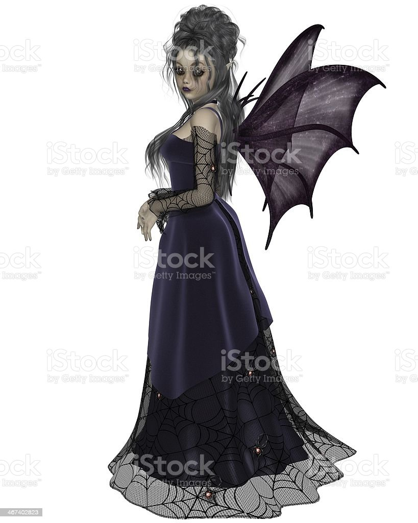 Gothic Fairy in Purple stock photo