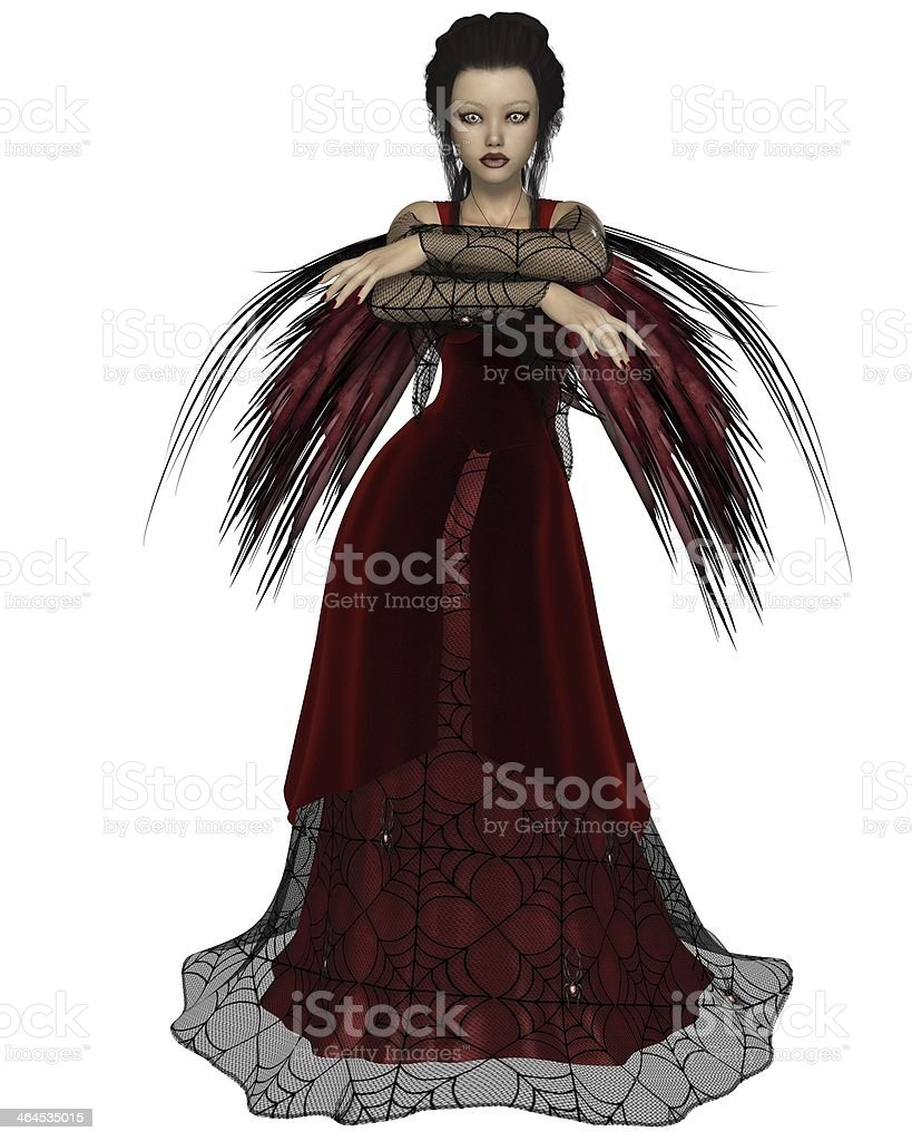 Gothic Fairy in Red stock photo
