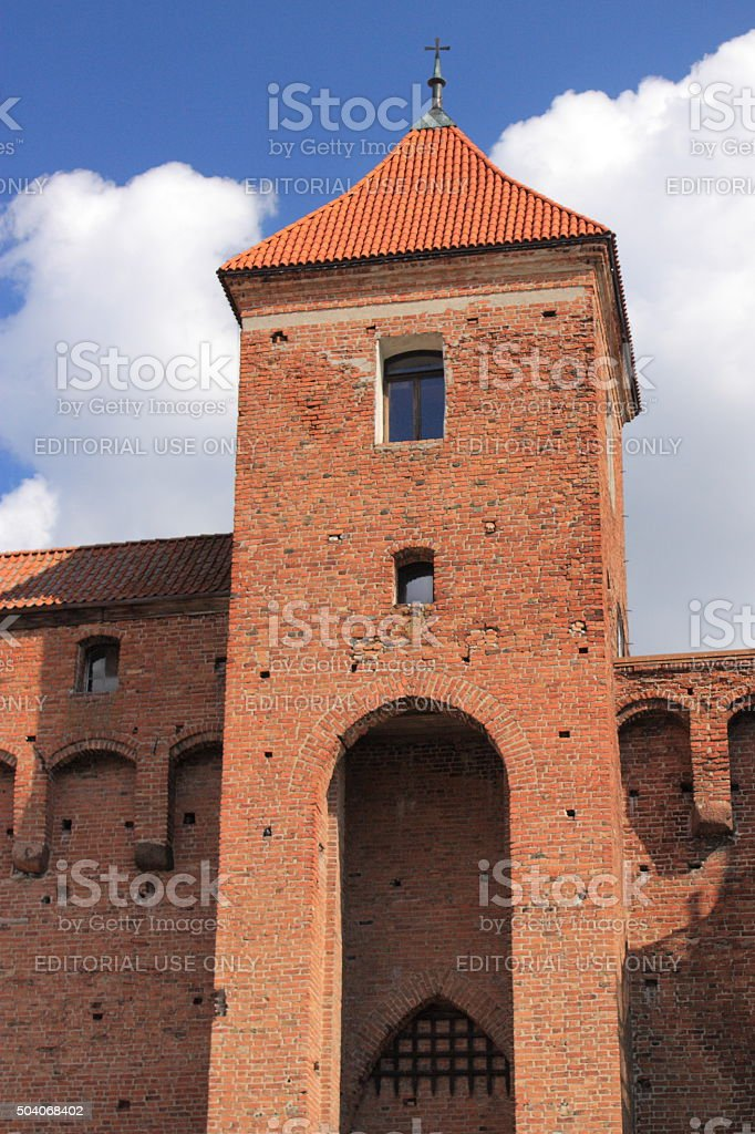 Gothic fourteenth-century castle in Reszel (Poland, Masuria). stock photo