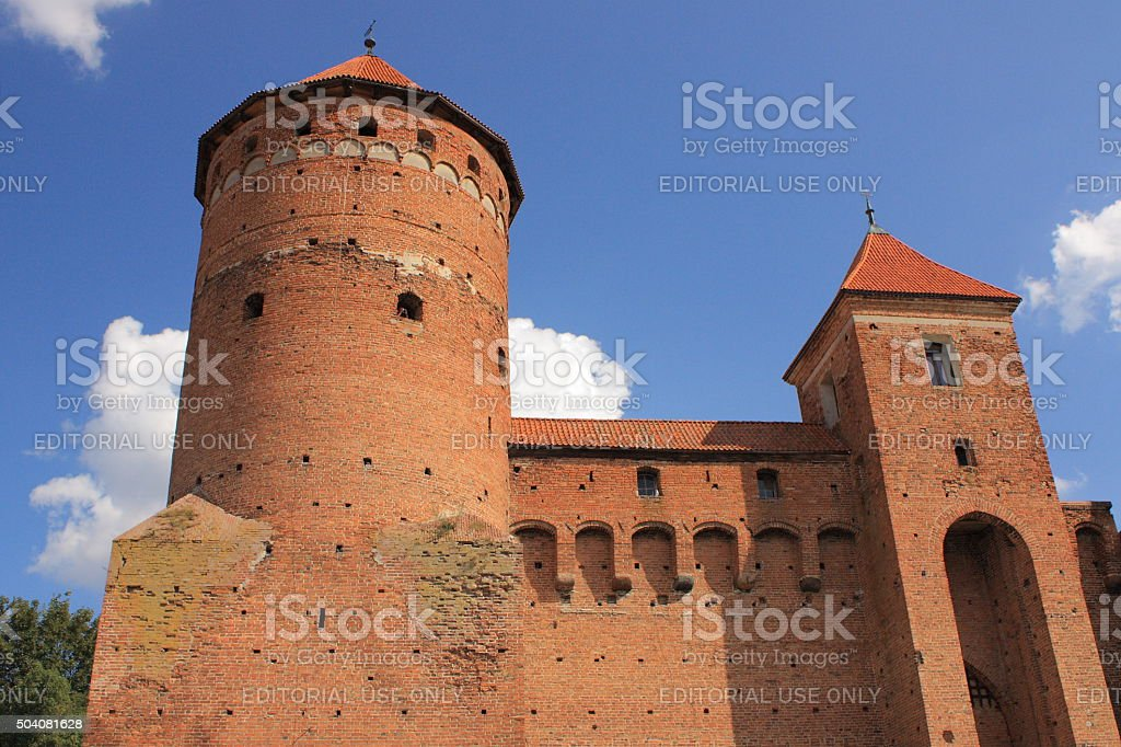 Gothic fourteenth-century castle in Reszel (Masuria, Poland). stock photo