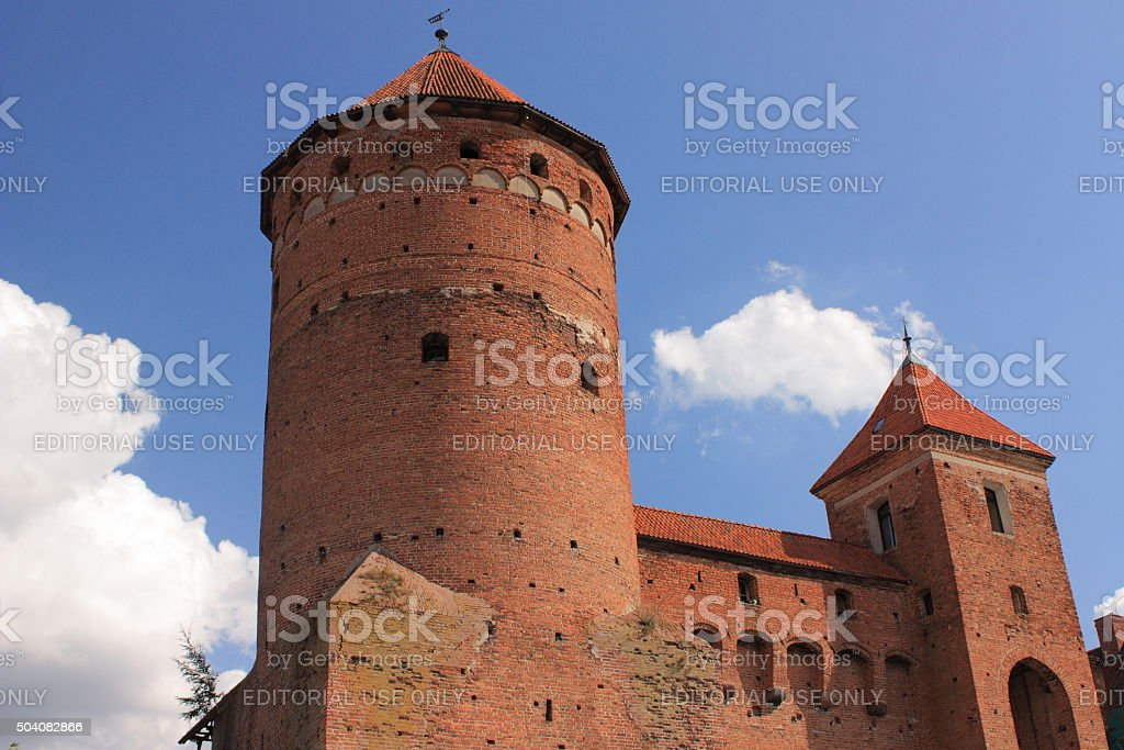 Gothic fourteenth-century castle in Reszel (Poland). stock photo