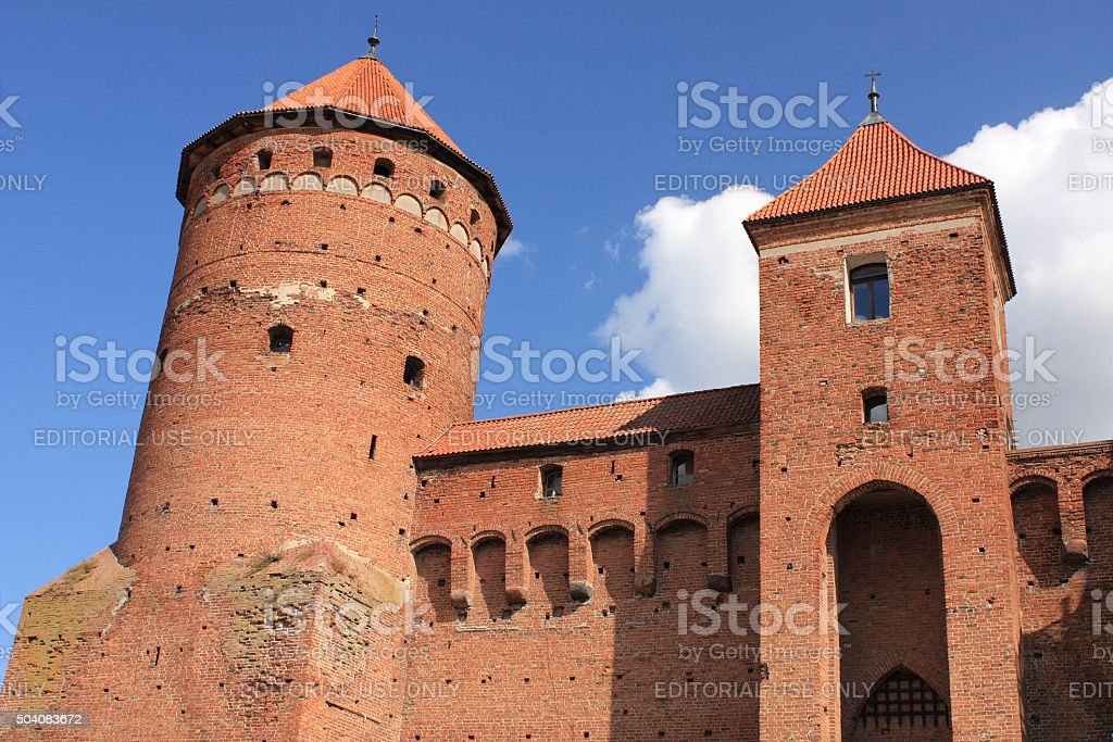 Gothic fourteenth-century castle in Reszel (Masuria, Poland) stock photo