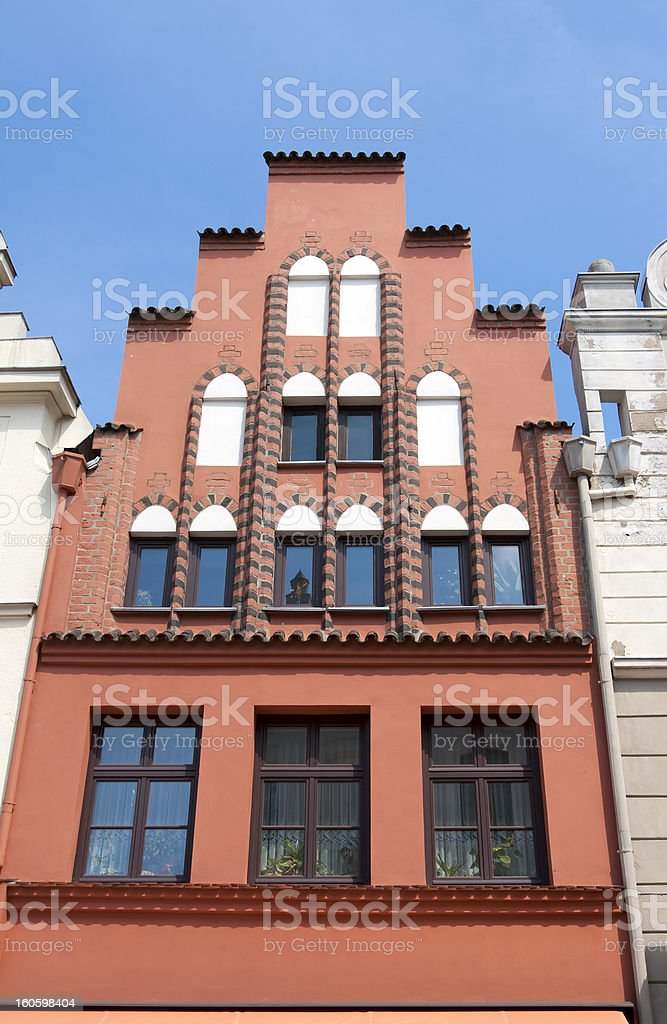 Gothic Gable, Wismar (Germany) stock photo