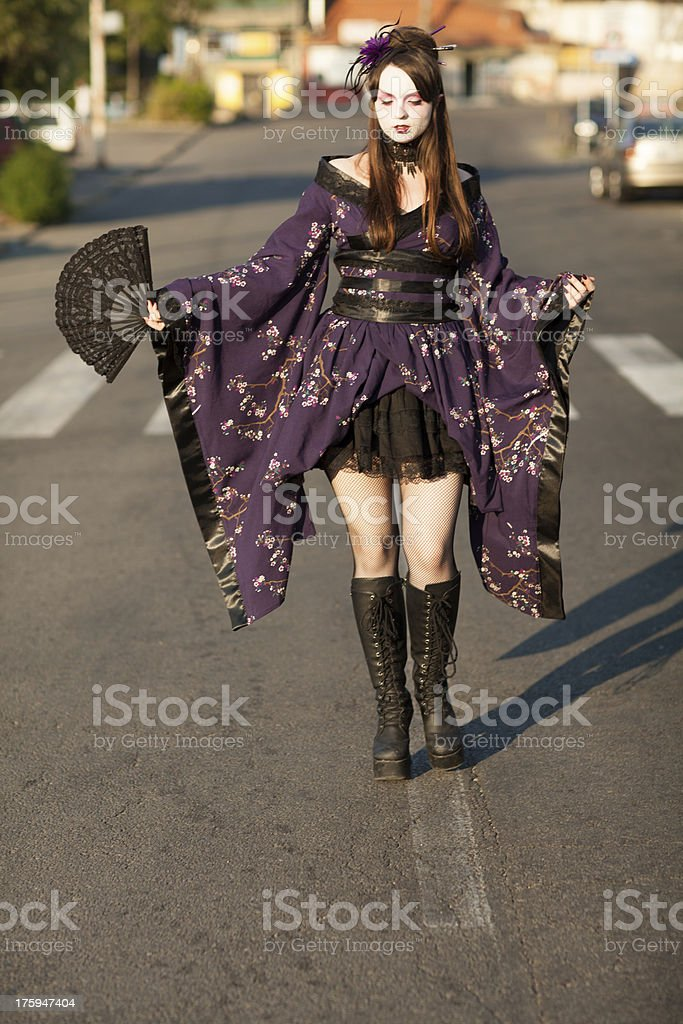 Gothic Geisha royalty-free stock photo