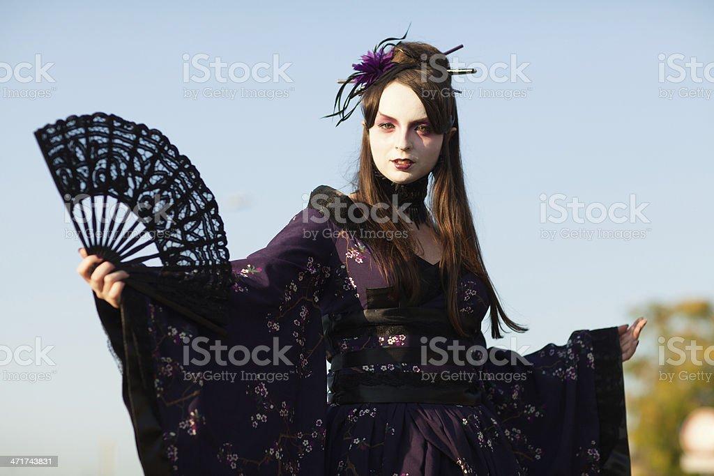 Gothic Geisha royalty-free stock photo