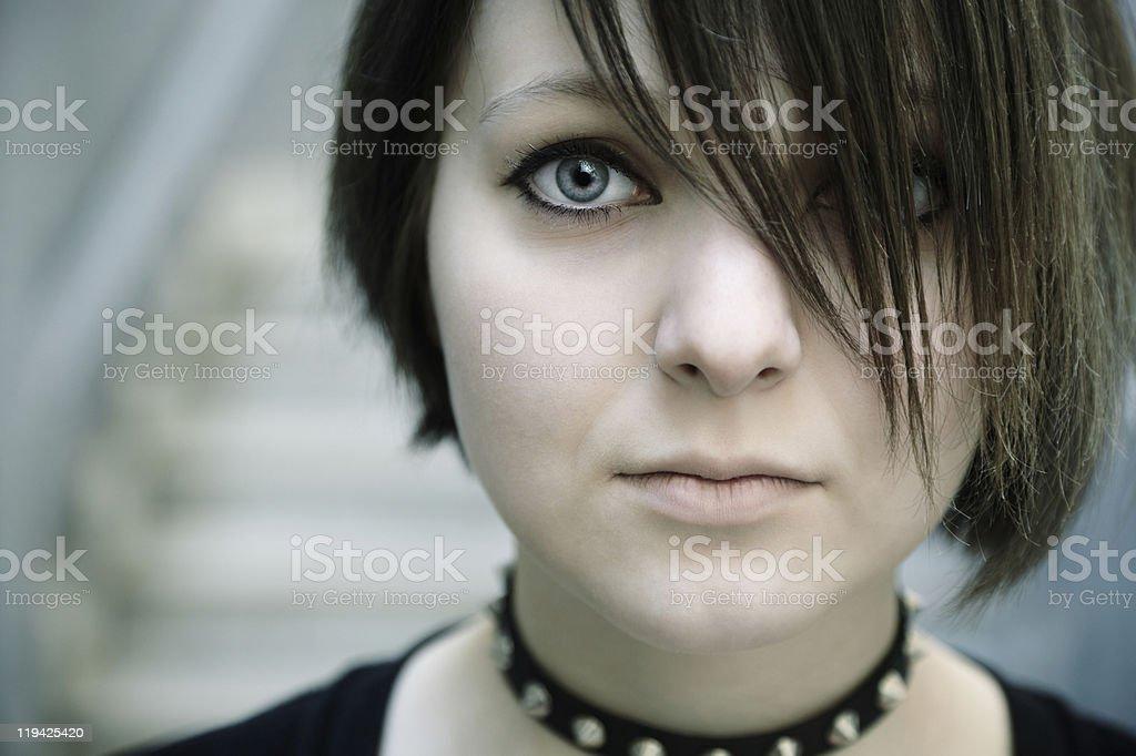 gothic girl stock photo
