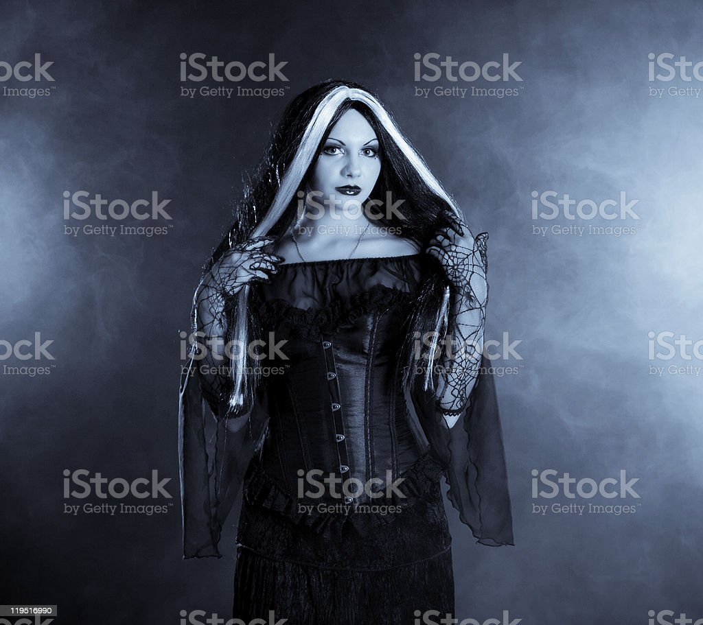 Gothic girl royalty-free stock photo