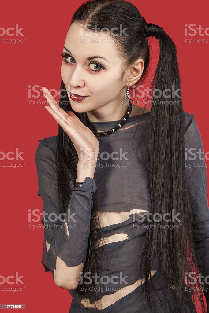 Gothic girl - (Series) royalty-free stock photo