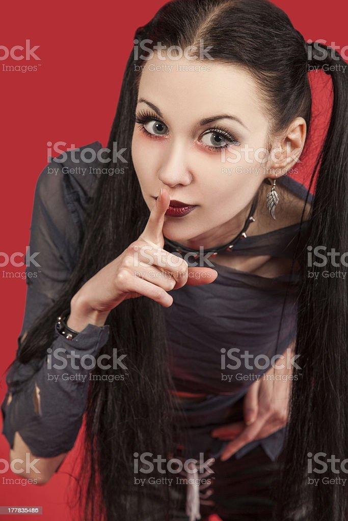 Gothic girl - (Series) royalty-free stock photo