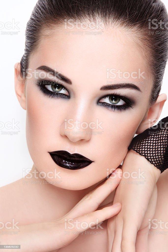Gothic glamour stock photo