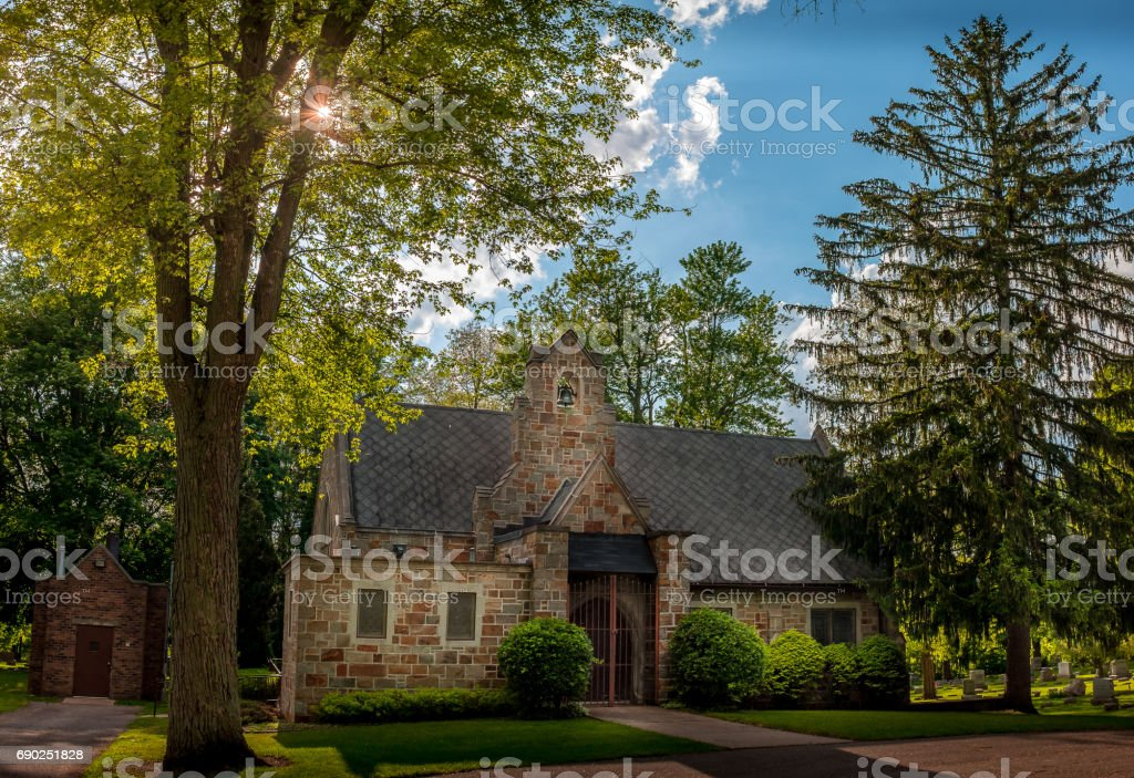 Gothic graveyard stock photo