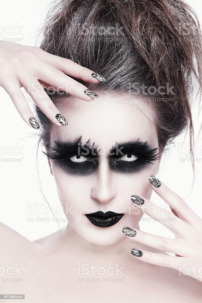 Gothic make-up stock photo
