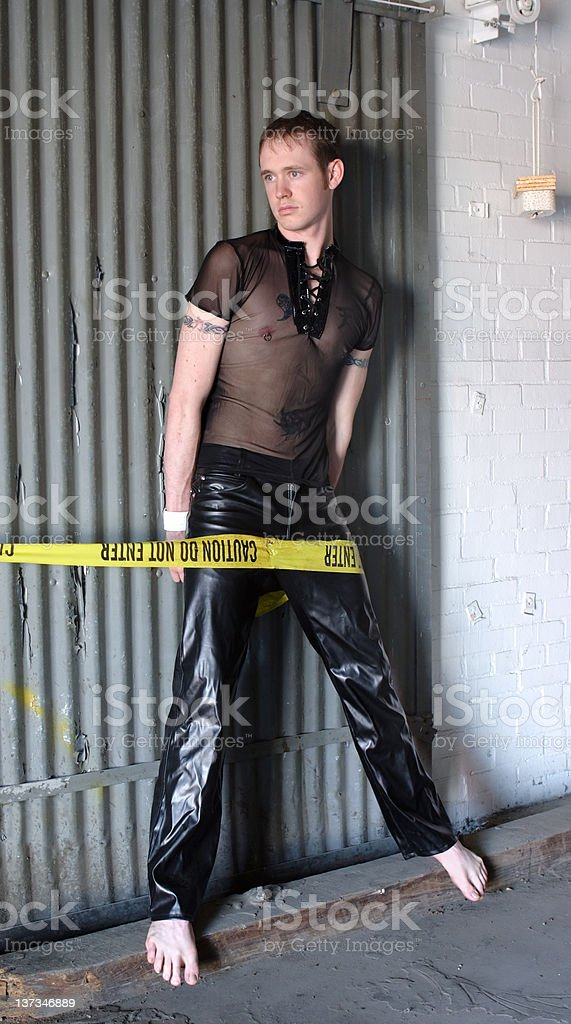 Gothic man standing royalty-free stock photo
