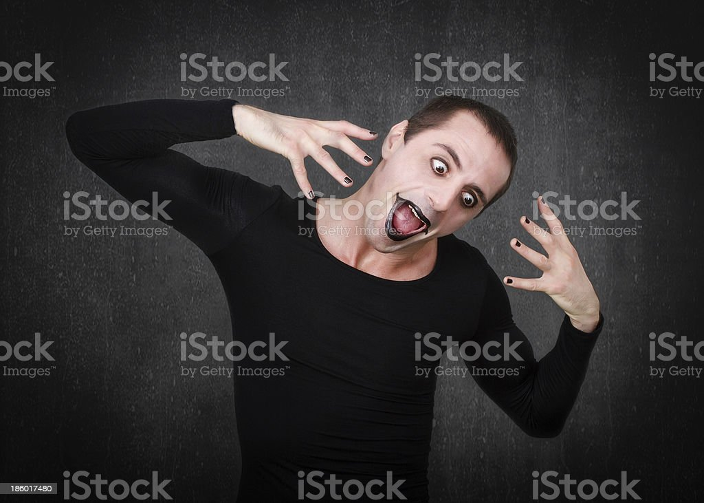gothic man terrifing faces royalty-free stock photo