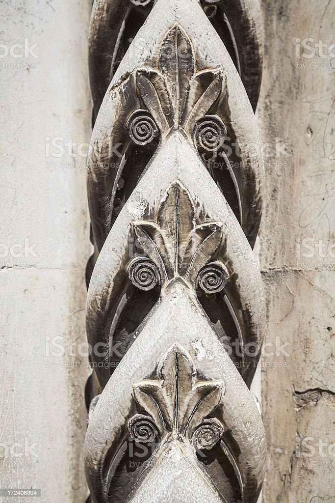 Gothic medieval Marble Decorations royalty-free stock photo