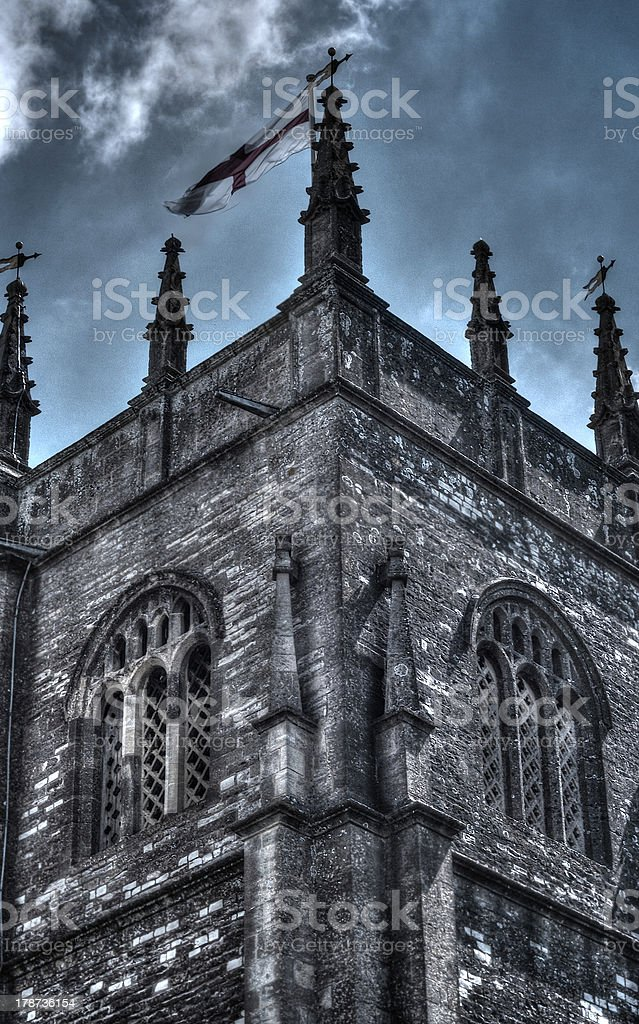 Gothic Middle Aged Castle Church royalty-free stock photo