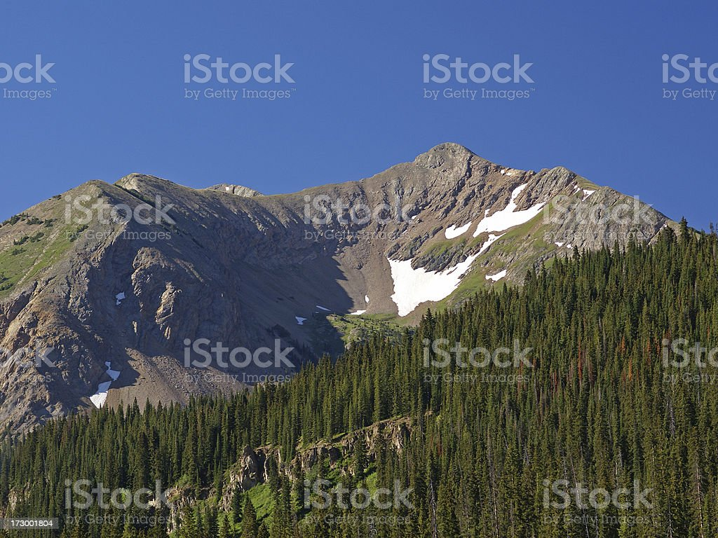 Gothic Mountain Colorado stock photo