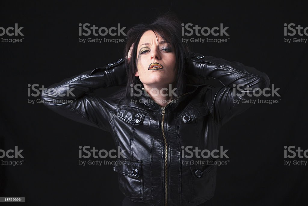 Gothic Portrait - Desperate Look royalty-free stock photo
