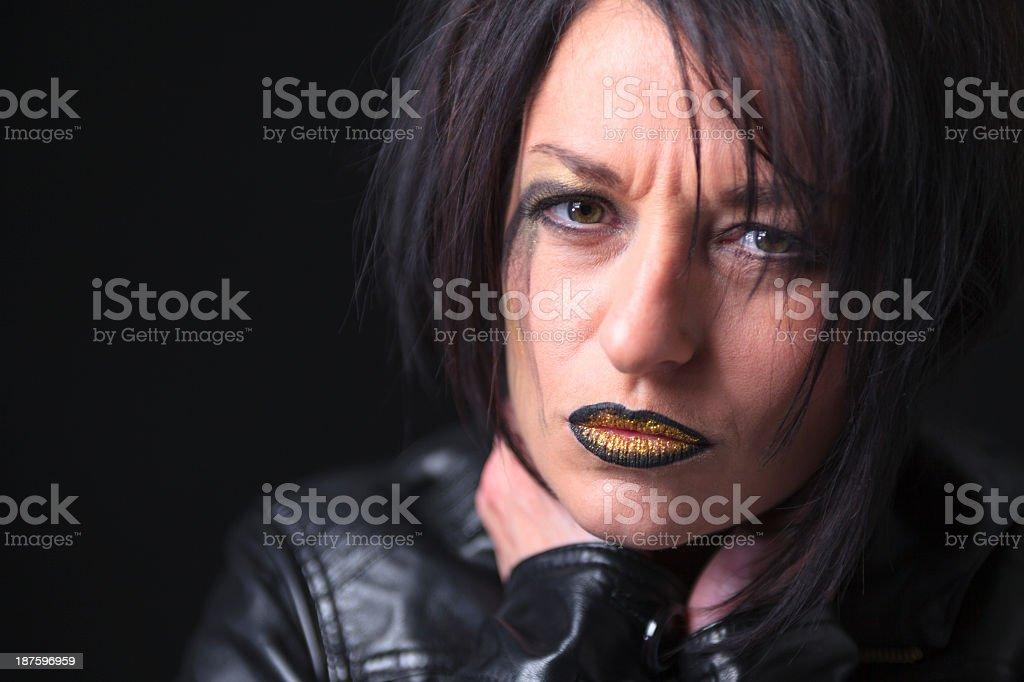Gothic Portrait on Black royalty-free stock photo
