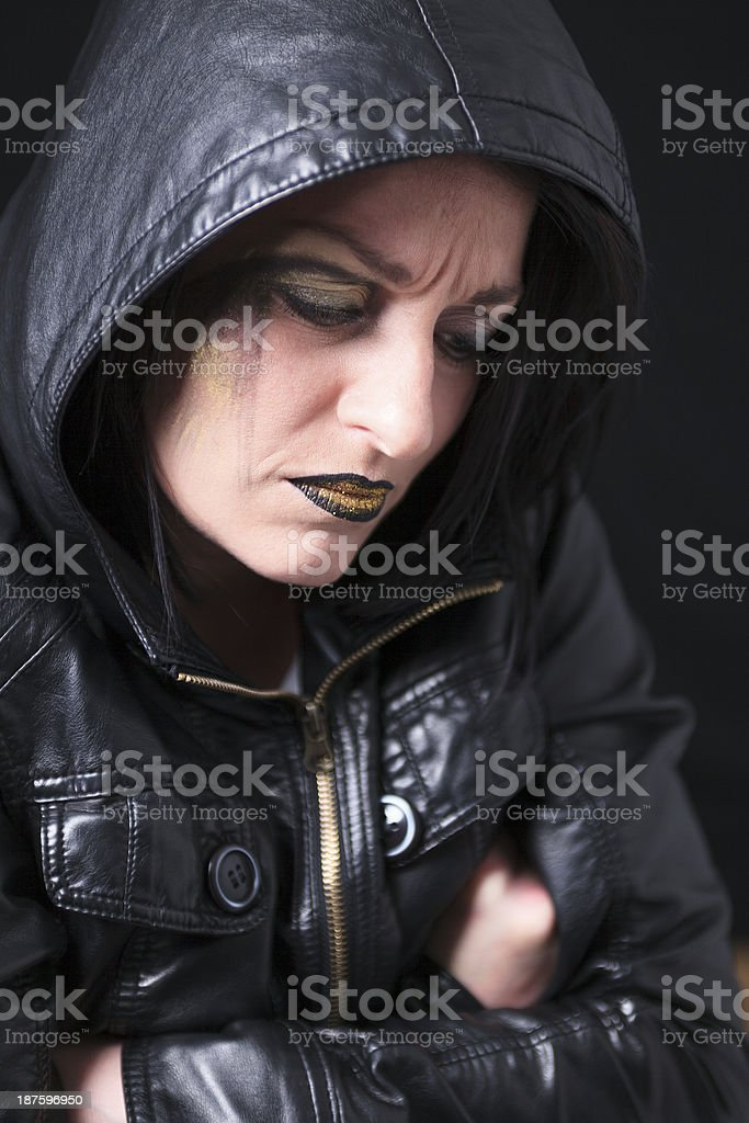 Gothic Portrait Sad royalty-free stock photo