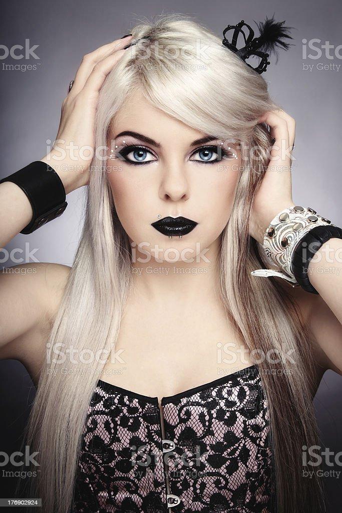 Gothic princess stock photo