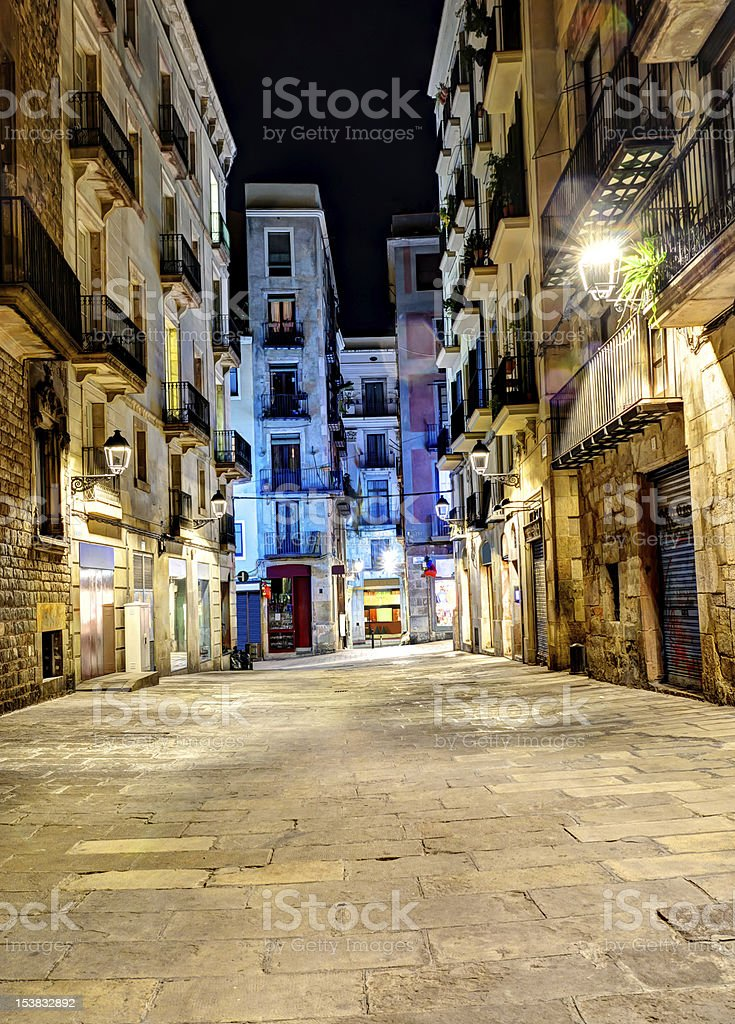 gothic quarter, Barcelona, Spain royalty-free stock photo