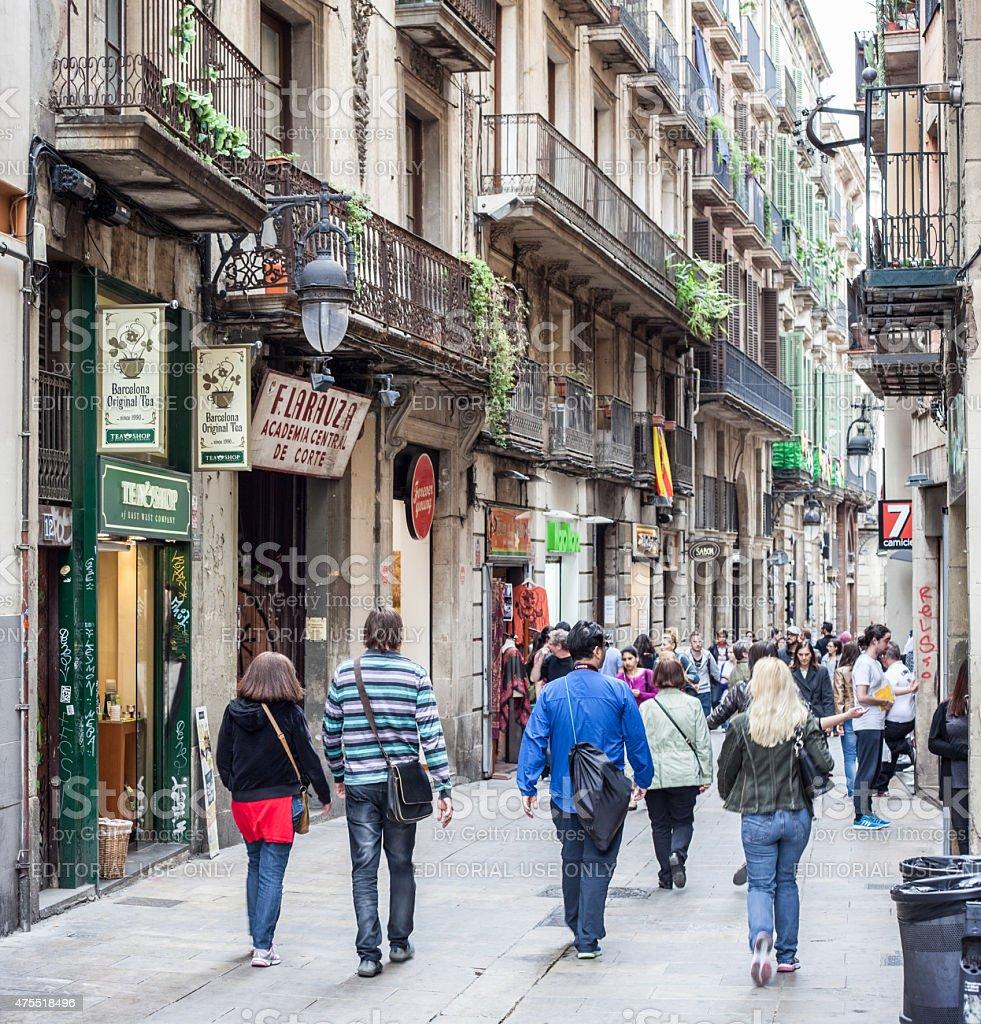 Gothic Quarter in Barcelona stock photo