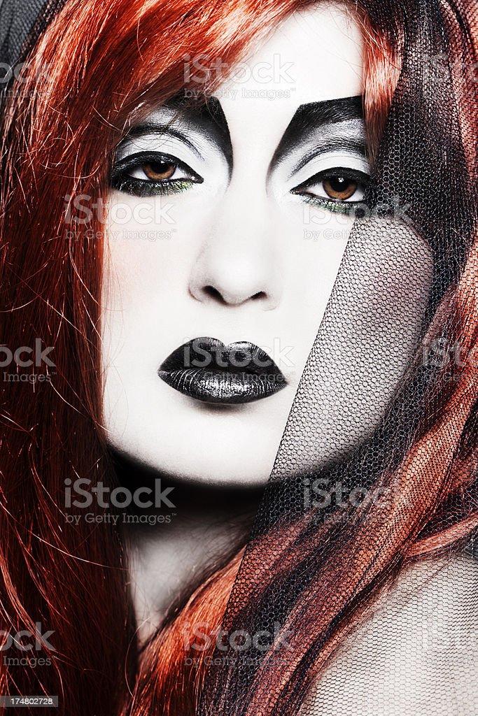 Gothic Redhead Beauty royalty-free stock photo