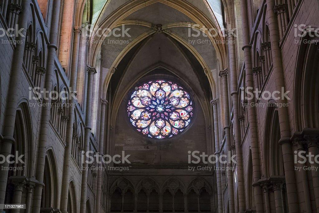 Gothic rose window royalty-free stock photo
