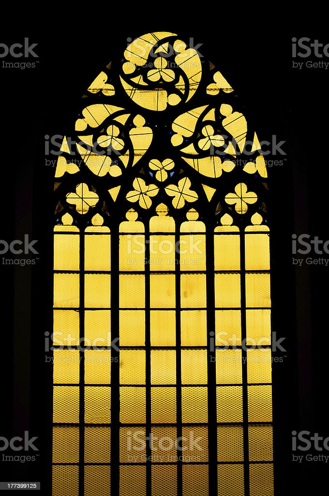 Gotische Buntglasfenster Lizenzfreies stock-foto