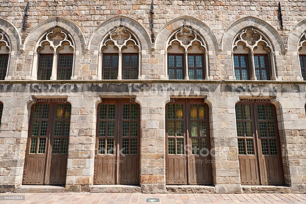 Gothic Style Building in Ypres stock photo