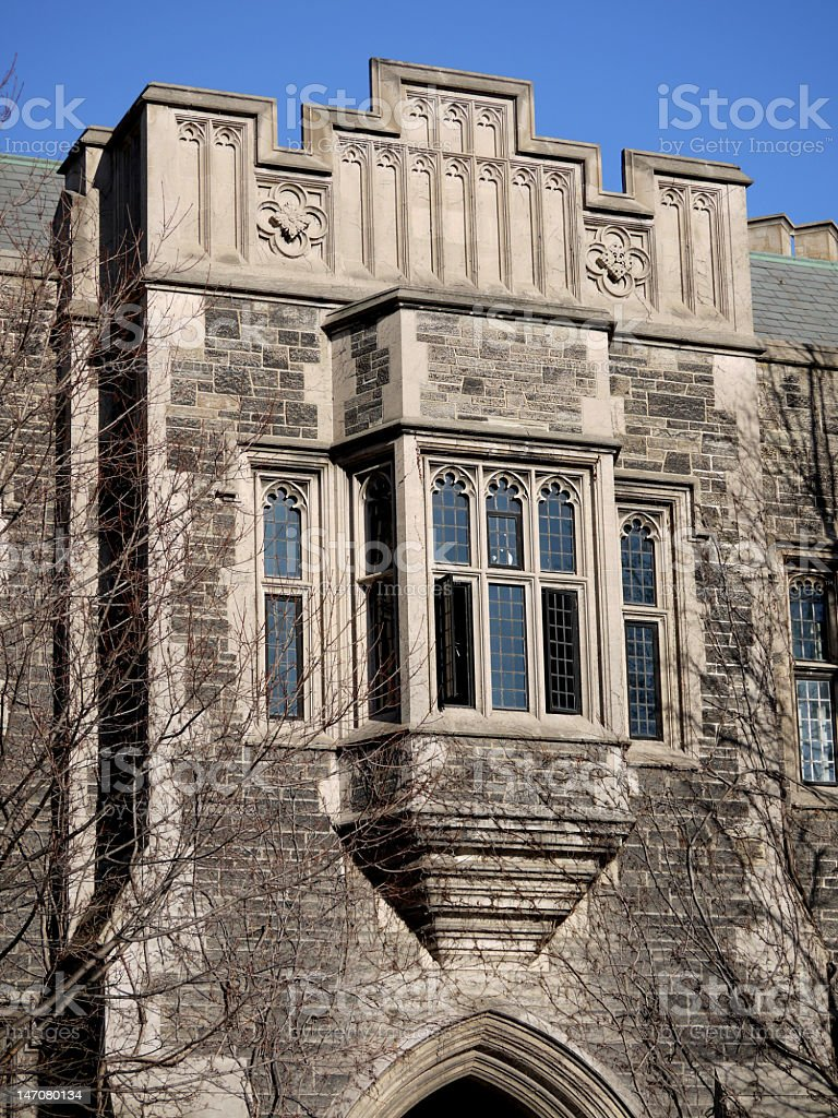 Gothic style college building stock photo