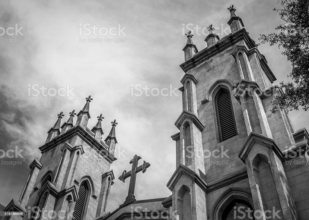 Gothic Style Episcopal Church stock photo