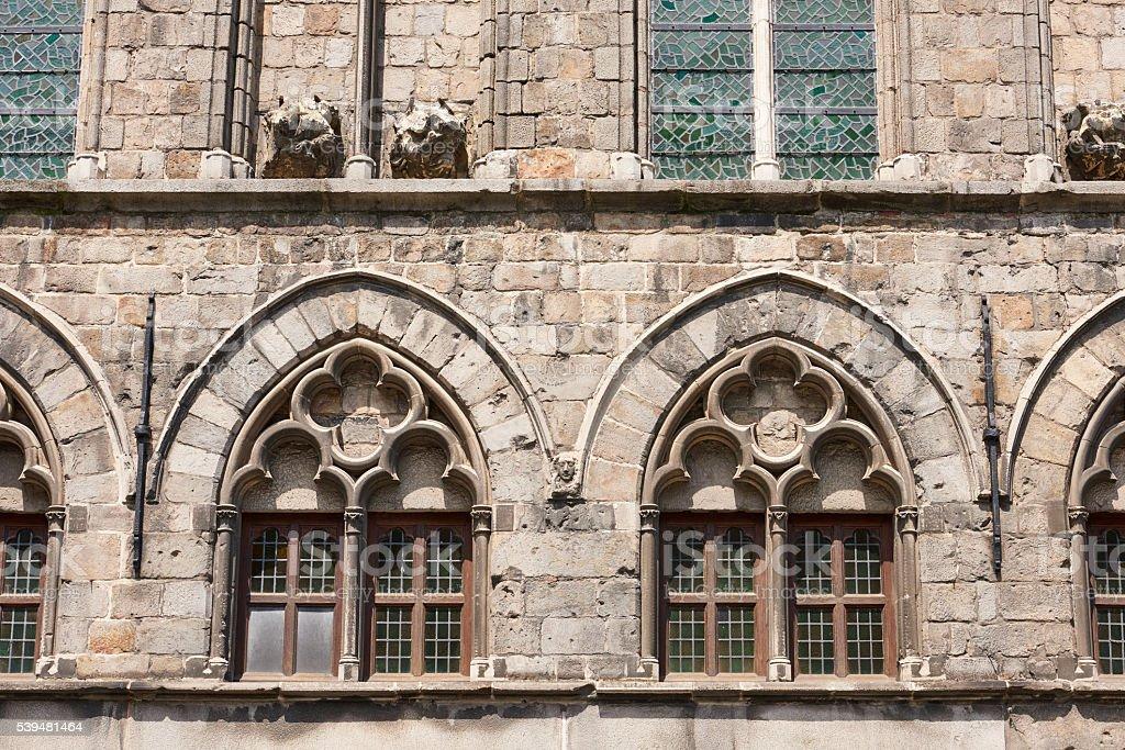 Gothic Style Windows stock photo
