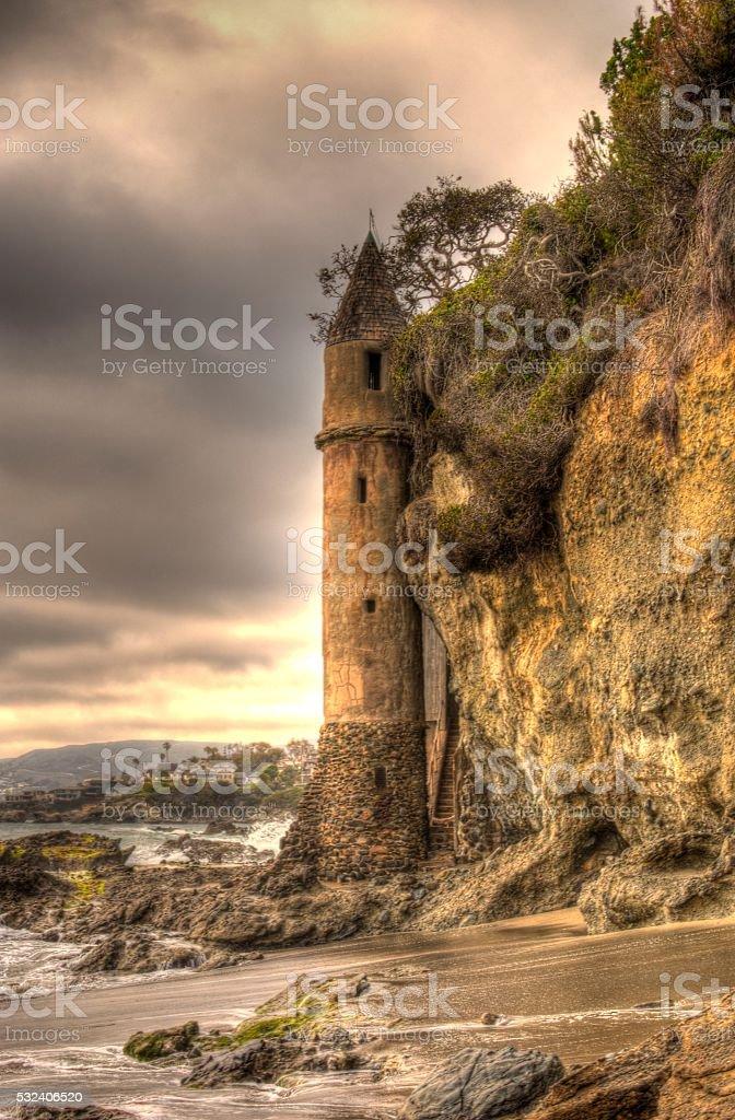 Gothic Victoria Beach Tower stock photo