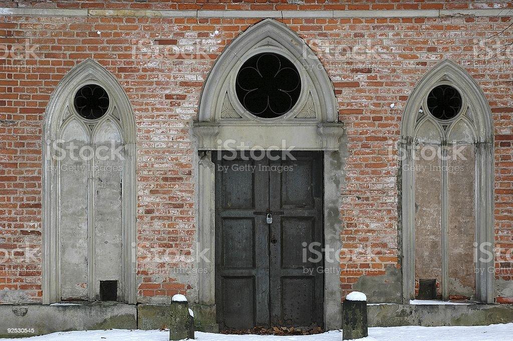 Fenêtres gothiques photo libre de droits